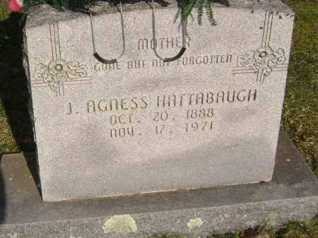 SCOTT HATTABAUGH, J. AGNESS - Washington County, Arkansas | J. AGNESS SCOTT HATTABAUGH - Arkansas Gravestone Photos