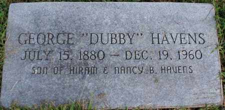 "HAVENS, GEORGE ""DUBBY"" - Washington County, Arkansas 