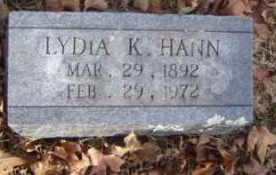 HANN, LYDIA K. - Washington County, Arkansas | LYDIA K. HANN - Arkansas Gravestone Photos