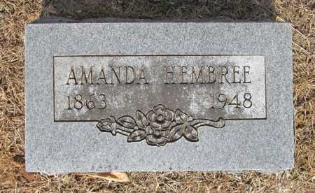 HEMBREE, AMANDA - Washington County, Arkansas | AMANDA HEMBREE - Arkansas Gravestone Photos