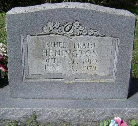 HENINGTON, ETHEL LEATO - Washington County, Arkansas | ETHEL LEATO HENINGTON - Arkansas Gravestone Photos