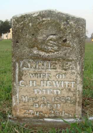 HEWITT, ANNIE B. - Washington County, Arkansas | ANNIE B. HEWITT - Arkansas Gravestone Photos