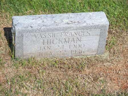 HICKMAN, VASSIE FRANCES - Washington County, Arkansas | VASSIE FRANCES HICKMAN - Arkansas Gravestone Photos