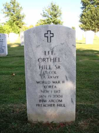 HILL, SR  (VETERAN 2 WARS), LEE ORTHEL - Washington County, Arkansas | LEE ORTHEL HILL, SR  (VETERAN 2 WARS) - Arkansas Gravestone Photos
