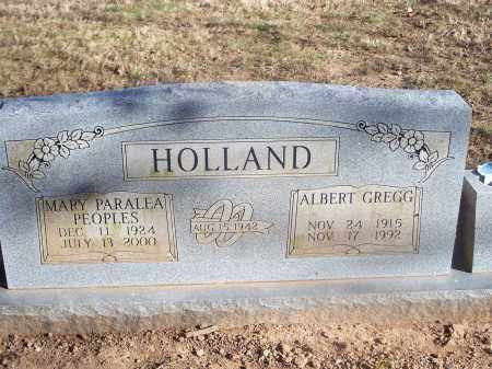 HOLLAND, ALBERT GREGG - Washington County, Arkansas | ALBERT GREGG HOLLAND - Arkansas Gravestone Photos
