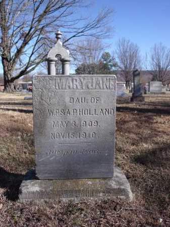 HOLLAND, MARY JANE - Washington County, Arkansas | MARY JANE HOLLAND - Arkansas Gravestone Photos