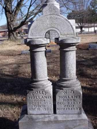 HOLLAND (VETERAN CSA), WILLIAM D - Washington County, Arkansas | WILLIAM D HOLLAND (VETERAN CSA) - Arkansas Gravestone Photos