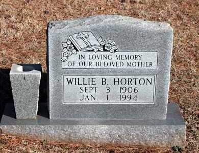 HORTON, WILLIE B. - Washington County, Arkansas | WILLIE B. HORTON - Arkansas Gravestone Photos