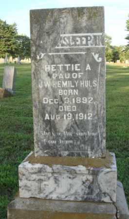 HULS, HETTIE A. - Washington County, Arkansas | HETTIE A. HULS - Arkansas Gravestone Photos