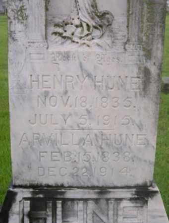 HUNE, ARVILLA (CLOSE UP) - Washington County, Arkansas | ARVILLA (CLOSE UP) HUNE - Arkansas Gravestone Photos