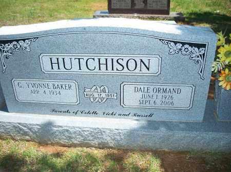 HUTCHISON, DALE ORMAND - Washington County, Arkansas | DALE ORMAND HUTCHISON - Arkansas Gravestone Photos
