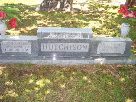 FRED HUTCHISON, BERTHA LEE - Washington County, Arkansas | BERTHA LEE FRED HUTCHISON - Arkansas Gravestone Photos