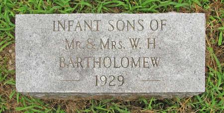 BARTHOLOMEW, INFANT SONS - Washington County, Arkansas | INFANT SONS BARTHOLOMEW - Arkansas Gravestone Photos