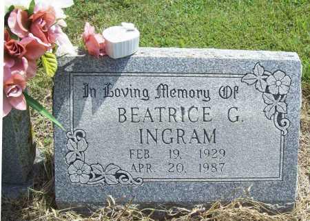 INGRAM, BEATRICE G - Washington County, Arkansas | BEATRICE G INGRAM - Arkansas Gravestone Photos
