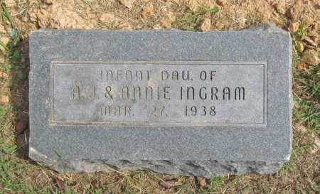 INGRAM, INFANT DAUGHTER - Washington County, Arkansas | INFANT DAUGHTER INGRAM - Arkansas Gravestone Photos
