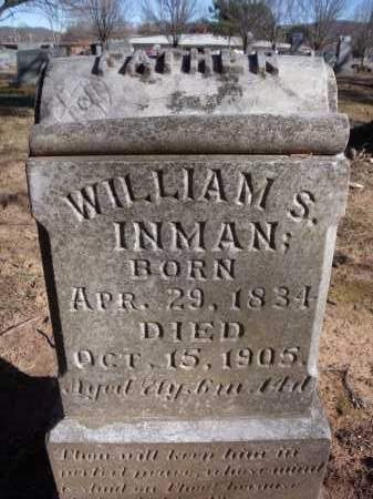 INMAN, WILLIAM S. - Washington County, Arkansas | WILLIAM S. INMAN - Arkansas Gravestone Photos