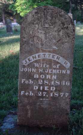 JENKINS, JENETTER R. - Washington County, Arkansas | JENETTER R. JENKINS - Arkansas Gravestone Photos