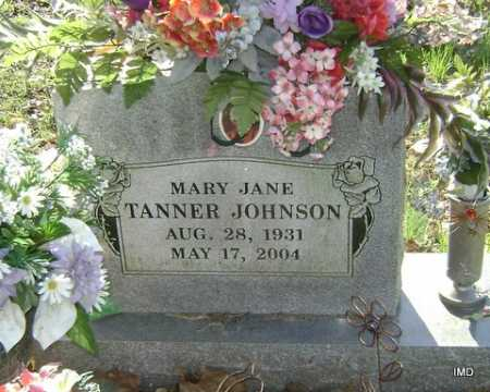 TANNER JOHNSON, MARY JANE - Washington County, Arkansas | MARY JANE TANNER JOHNSON - Arkansas Gravestone Photos