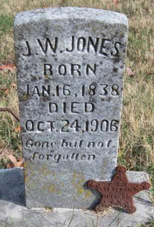 JONES  (VETERAN CSA), J. W. - Washington County, Arkansas | J. W. JONES  (VETERAN CSA) - Arkansas Gravestone Photos