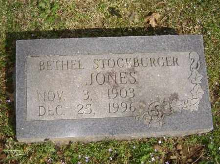 STOCKBURGER JONES, BETHEL - Washington County, Arkansas | BETHEL STOCKBURGER JONES - Arkansas Gravestone Photos