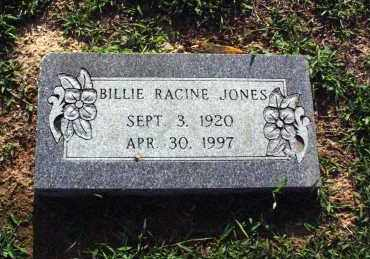JONES, BILLIE RACINE - Washington County, Arkansas | BILLIE RACINE JONES - Arkansas Gravestone Photos