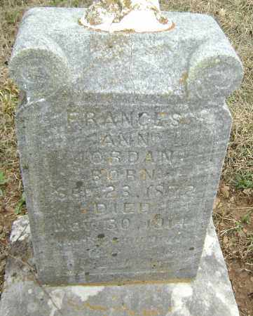 JORDAN, FRANCES ANN - Washington County, Arkansas | FRANCES ANN JORDAN - Arkansas Gravestone Photos
