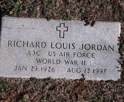 JORDAN (VETERAN WWII), RICHARD LOUIS - Washington County, Arkansas | RICHARD LOUIS JORDAN (VETERAN WWII) - Arkansas Gravestone Photos
