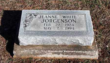 "JORGENSON, JEANNE ""WHITE"" - Washington County, Arkansas 