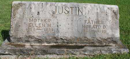 JUSTIN, ELLEN M. - Washington County, Arkansas | ELLEN M. JUSTIN - Arkansas Gravestone Photos
