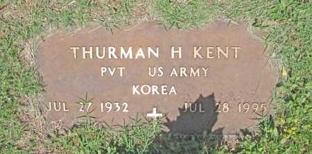 KENT (VETERAN KOR), THURMAN H. - Washington County, Arkansas | THURMAN H. KENT (VETERAN KOR) - Arkansas Gravestone Photos