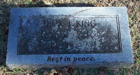 KING, DICK I. - Washington County, Arkansas | DICK I. KING - Arkansas Gravestone Photos