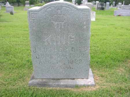 KING, J. LUTHER - Washington County, Arkansas | J. LUTHER KING - Arkansas Gravestone Photos