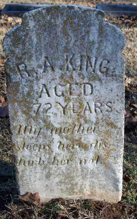 KING, R. A. - Washington County, Arkansas | R. A. KING - Arkansas Gravestone Photos
