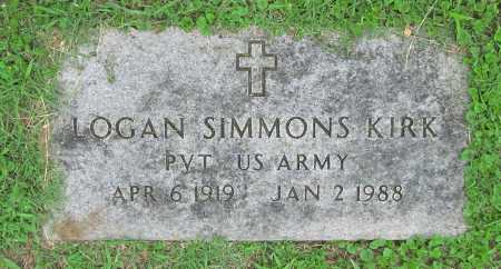 KIRK (VETERAN), LOGAN SIMMONS - Washington County, Arkansas | LOGAN SIMMONS KIRK (VETERAN) - Arkansas Gravestone Photos