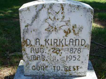 KIRKLAND, D. A. - Washington County, Arkansas | D. A. KIRKLAND - Arkansas Gravestone Photos
