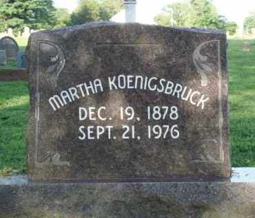 KOENIGSBRUCK, MARTHA - Washington County, Arkansas | MARTHA KOENIGSBRUCK - Arkansas Gravestone Photos