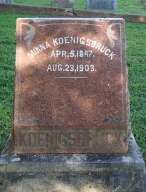 KOENIGSBRUCK, MINNA - Washington County, Arkansas | MINNA KOENIGSBRUCK - Arkansas Gravestone Photos