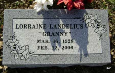 LANDELIUS, LORRAINE - Washington County, Arkansas | LORRAINE LANDELIUS - Arkansas Gravestone Photos