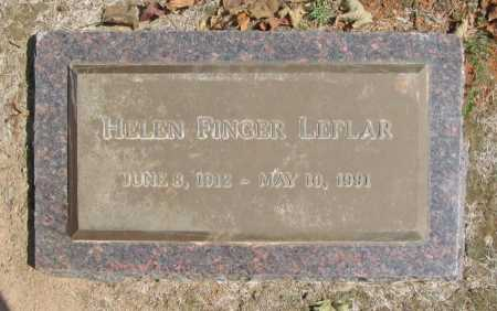 FINGER LEFLAR, HELEN - Washington County, Arkansas | HELEN FINGER LEFLAR - Arkansas Gravestone Photos