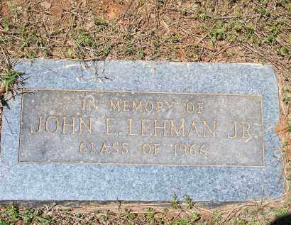 LEHMAN [PIC 2], JOHN EUGENE, JR. - Washington County, Arkansas | JOHN EUGENE, JR. LEHMAN [PIC 2] - Arkansas Gravestone Photos