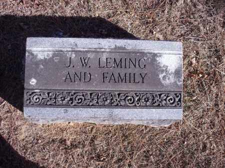 LEMING, J.W. [AND FAMILY] - Washington County, Arkansas | J.W. [AND FAMILY] LEMING - Arkansas Gravestone Photos