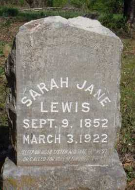 LEWIS, SARAH JANE - Washington County, Arkansas | SARAH JANE LEWIS - Arkansas Gravestone Photos