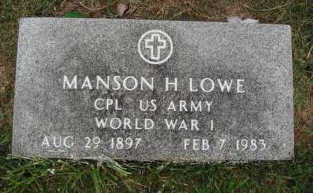 LOWE  (VETERAN WWI), MANSON H. - Washington County, Arkansas | MANSON H. LOWE  (VETERAN WWI) - Arkansas Gravestone Photos