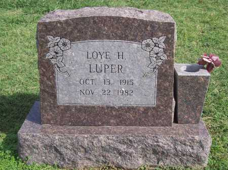 LUPER, LOYE H. - Washington County, Arkansas | LOYE H. LUPER - Arkansas Gravestone Photos