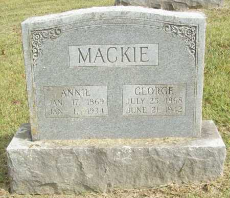 MACKIE, GEORGE - Washington County, Arkansas | GEORGE MACKIE - Arkansas Gravestone Photos