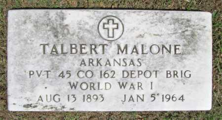 MALONE  (VETERAN WWI), TALBERT - Washington County, Arkansas | TALBERT MALONE  (VETERAN WWI) - Arkansas Gravestone Photos