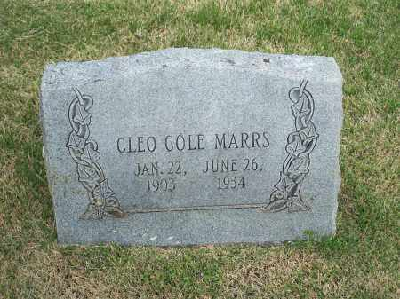 COLE MARRS, CLEO - Washington County, Arkansas | CLEO COLE MARRS - Arkansas Gravestone Photos