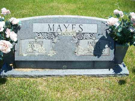 MAYES, JOHN GARLAND - Washington County, Arkansas | JOHN GARLAND MAYES - Arkansas Gravestone Photos