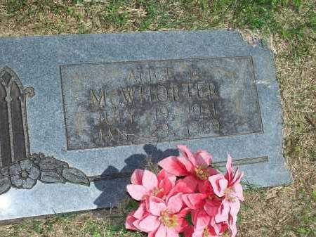 MCWHORTER, ALICE L. - Washington County, Arkansas | ALICE L. MCWHORTER - Arkansas Gravestone Photos