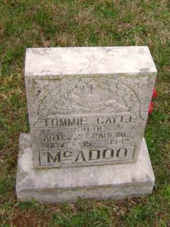 MCADOO, TOMMIE GAYLE - Washington County, Arkansas | TOMMIE GAYLE MCADOO - Arkansas Gravestone Photos